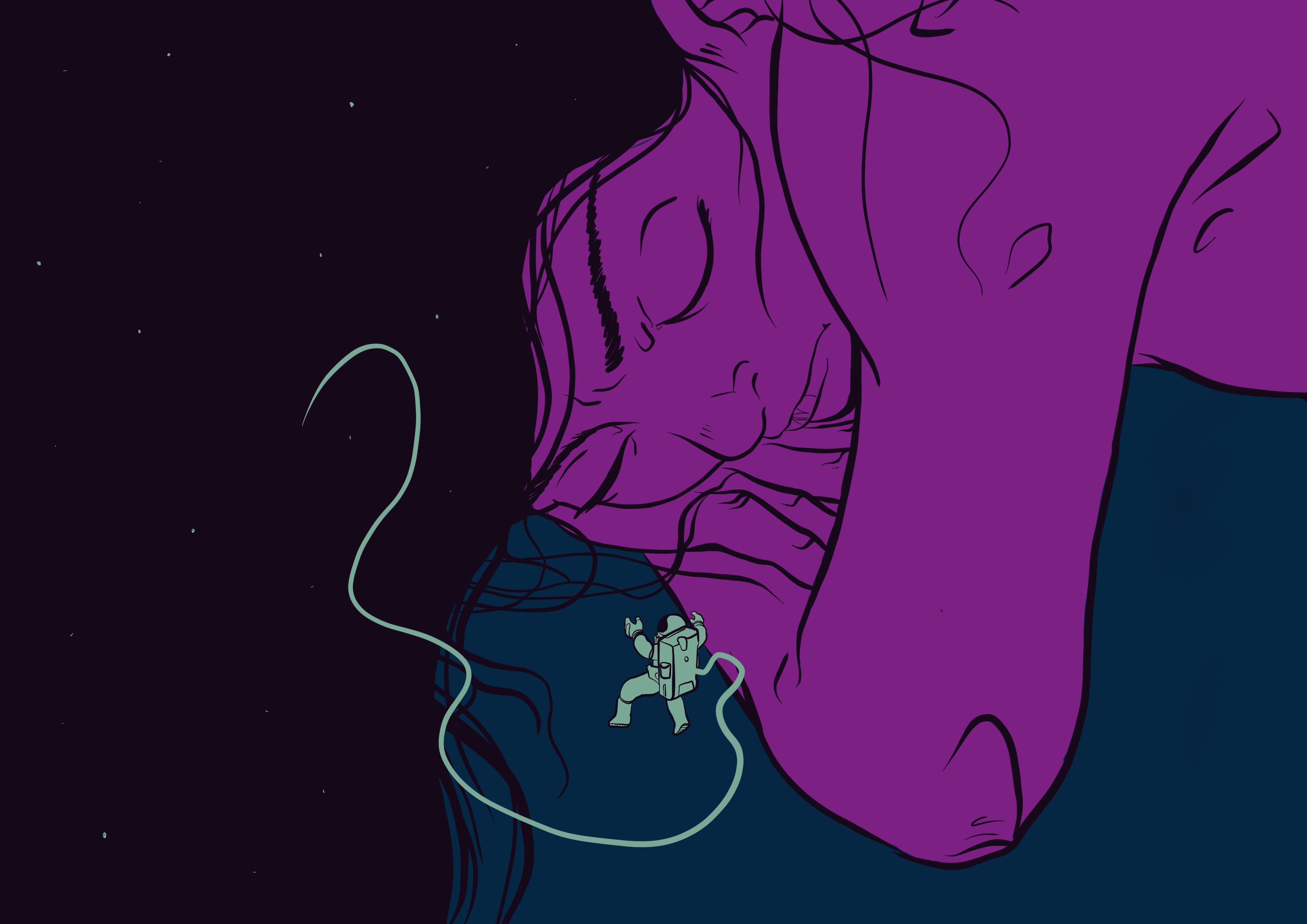 Dream woman space