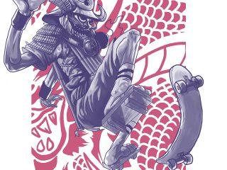 Skater samurai
